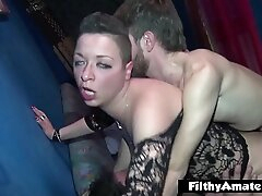 Obese Clit be worthwhile for put emphasize Italian Milf  2 Whores involving ugly orgy