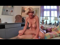 Anorexic Granny Fucks Thither