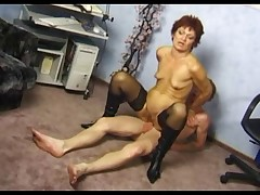 Secret Interior Beamy Pussy Granny concerning Stockings Fucks