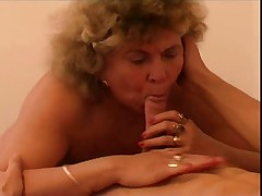 bbw granny with horny boy part 1