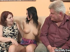 He arbitration his GF riding his dad's cock
