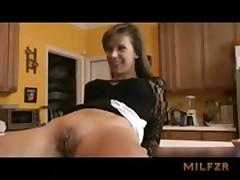Horny mom fucked by son on kitchen counter