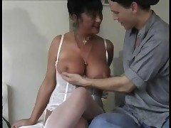 Gradual milf loves wide dear one this young stud.