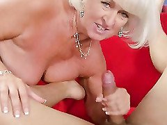 Grandma Jeannie Lou Sucks A 24-year-olds Load of shit