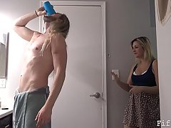 Dam Gives Young gentleman Viagra - Fifi Foxx with an increment of Load of shit Ninja
