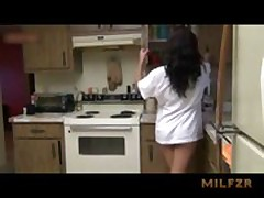 Daughter fucked by dad in kitchen