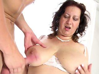 Boy fucked busty mommy