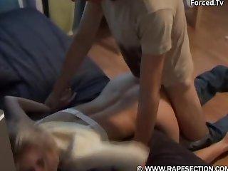 Blonde babe doggy fucked