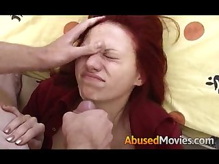 Busty Babe Redhead Getting Forced