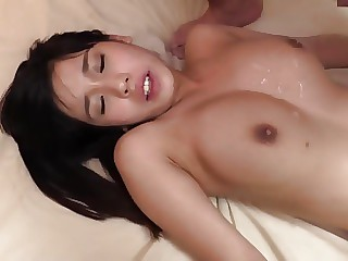 Asian girl was screwed in the shower