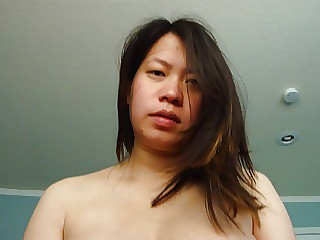 Tender Chinese lady with big belly