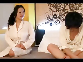 Busty Korean mom loves sex