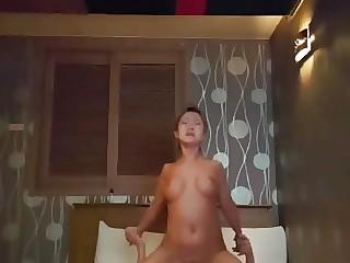Karaoke whore got a white dick