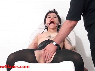 Asian slave Mei Maras medical fetish and play piercing bdsm