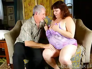 Super cute chubby old spunker is such a hot fuck loves cum