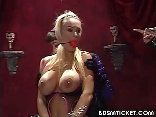 Blonde gagged and tortured