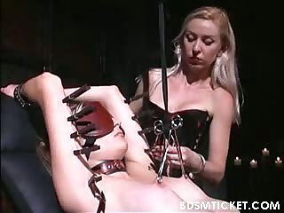 Tormented all over her body