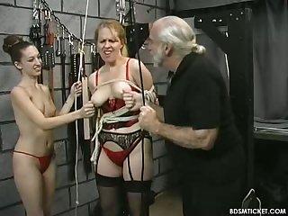Tormenting hard tits