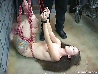 Hunging slave girl