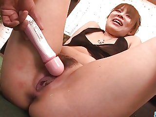 Rinka Aiuchi gets toys in both her creamy holes