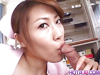 Aya Sakurai nurse gets cum after blowjob
