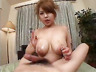 Busty asian titty fuck