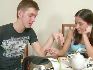 Seduced girls on incest videos