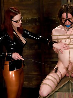 <!–-IMAGE_COUNT-–> of Mistres Adams dominated two sissy men