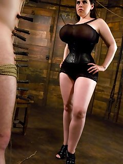 <!–-IMAGE_COUNT-–> of Huge breast Domina tormented a slaveboy and sat on his face