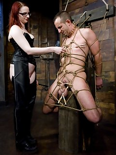 <!–-IMAGE_COUNT-–> of Claire Adams dominates slave boy and fucks his ass