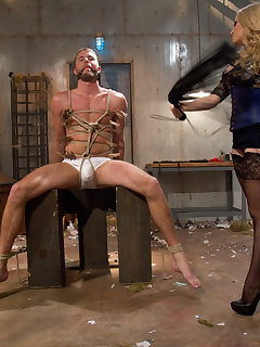 <!–-IMAGE_COUNT-–> of The busty mistress punished a boy and sat on his face by pussy