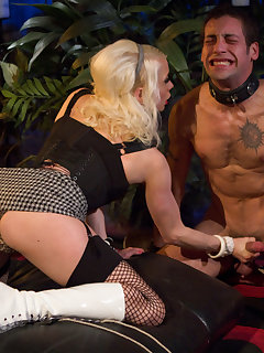 <!–-IMAGE_COUNT-–> of Deviant mistress teases and jerks male cock