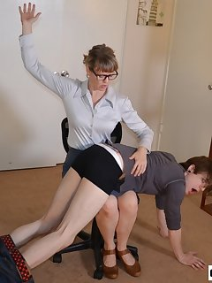 <!–-IMAGE_COUNT-–> of Kade Spanked in Office