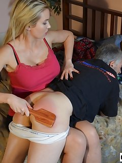 16 of Landlord Gigi Allens spanks her Tennant