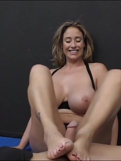 6 of Eva Notty Foot Fetish Cock Playing Action