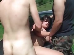 Outdoors brutal rape of a beautiful girl