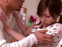 Ozawa Marina with stepfather
