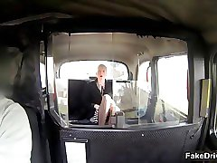 Sexy blonde babe from faketaxi goes segment