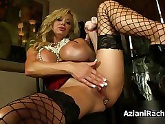 Busty blonde milf goes crazy film