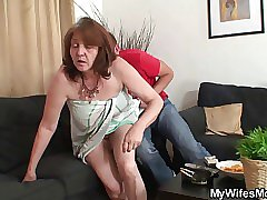 sucking the cock and she has like 68 years