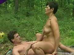 Granny time in the forest
